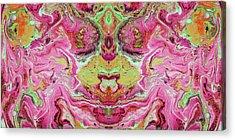 Double Rhapsody- Art By Linda Woods Acrylic Print