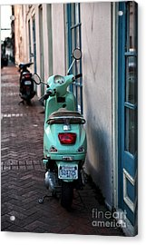 Double Scooters Acrylic Print by John Rizzuto