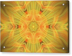 Double Star Abstract Acrylic Print by Linda Phelps