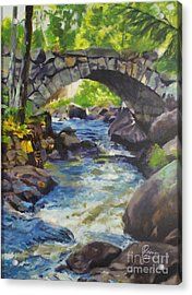 Double Stone Arch Bridge  Acrylic Print