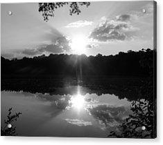 Double Sun Set  Acrylic Print by D R TeesT