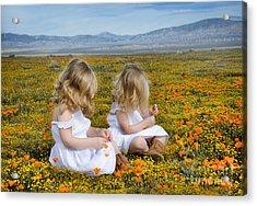 Double Take In A Poppy Field Acrylic Print