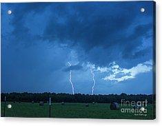 Double Trouble Too Dusk Thunderstorm Lightning Weather Art Acrylic Print