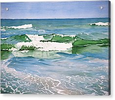 Double Wave Acrylic Print by Christopher Reid