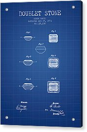 Doublet Stone Patent From 1873 - Blueprint Acrylic Print