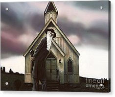 Acrylic Print featuring the painting Doubt Or Faith by Dave Luebbert