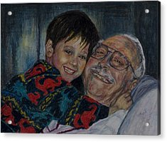Doug And Papafred Acrylic Print by Laurie Tietjen