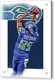 Doug Baldwin Seattle Seahawks Oil Art 3 Acrylic Print