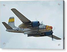 Acrylic Print featuring the photograph Douglas A-26b Invader Nl99420 Silver Dragon Chino California April 30 2016 by Brian Lockett