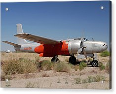 Douglas B-26b Invader N4819e Buckeye Arizona April 29 2011 Acrylic Print by Brian Lockett