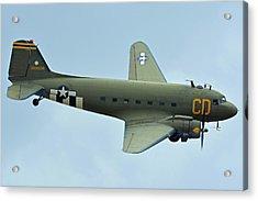Douglas C-47b Dakota N47sj Betsy's Biscuit Bomber Chino California April 30 2016 Acrylic Print by Brian Lockett