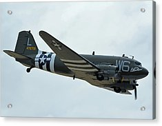 Acrylic Print featuring the photograph Douglas C-47b Dakota N791hh Willa Dean Chino California April 30 2016 by Brian Lockett
