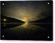 Acrylic Print featuring the photograph Douthat Lake Night by Alan Raasch