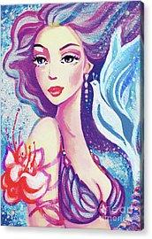 Dove Mermaid Acrylic Print