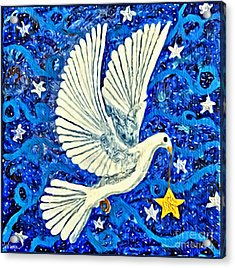 Dove With Star Acrylic Print