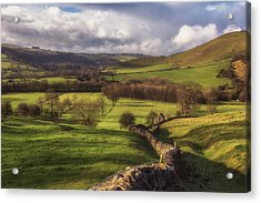 Dovedale Valley Acrylic Print