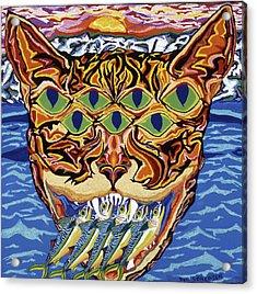 Dover Cat Acrylic Print by Robert SORENSEN