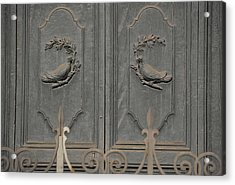 Doves On The Doorway Acrylic Print by JAMART Photography