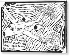 Dow Jones Airlines By Yonatan Frimer Acrylic Print by Yonatan Frimer Maze Artist