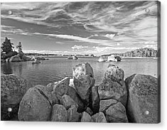 Dowdy Lake In Black And White Acrylic Print by James Steele