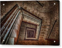 Down And Around - Staircase Acrylic Print