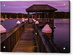 Down At The Dock Acrylic Print by Karol Livote
