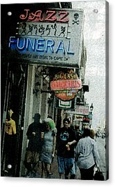 Acrylic Print featuring the digital art Down At The French Quarter by Saad Hasnain