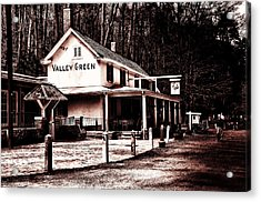 Down At Valley Green Acrylic Print by Bill Cannon