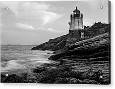 Acrylic Print featuring the photograph Down Below Castle Hill Light by Andrew Pacheco