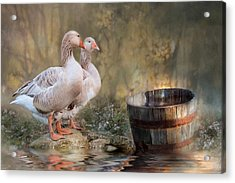 Acrylic Print featuring the photograph Down By The River by Robin-Lee Vieira