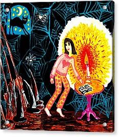 Down In The Cellar Acrylic Print by Sushila Burgess