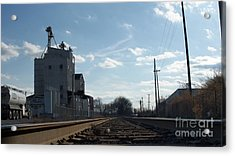 Down Low In The Tracks Near The Ol Mill   # Acrylic Print by Rob Luzier