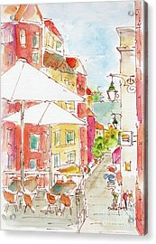 Down Rua Serpa Pinto Lisbon Acrylic Print