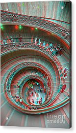Down Stairs Anaglyph 3d Acrylic Print