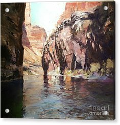 Down Stream On The Mighty Colorado River Acrylic Print