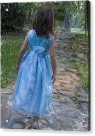 Down The Path Acrylic Print by Sandy Belk