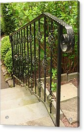 Down The Railing Acrylic Print