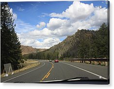 Down The Road Acrylic Print by Gregory Jeffries