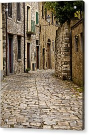Down The Road In Montefiorella Acrylic Print by Rae Tucker