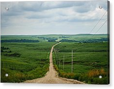 Down The Road Acrylic Print by Lisa Plymell