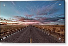 Acrylic Print featuring the photograph Down The Road by Monte Stevens