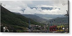Down The Valley At Snowmass #3 Acrylic Print