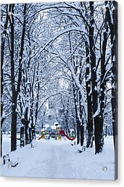 Down To The Park Acrylic Print by Rae Tucker