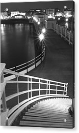 Down To The Pier Acrylic Print by Hazy Apple