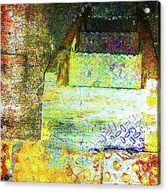Acrylic Print featuring the mixed media Down by Tony Rubino