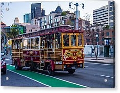 Down Town Trolly Car Acrylic Print by Brian Williamson