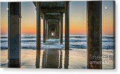 Down Under Scripp's Pier  Acrylic Print