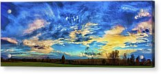 Downeast Sundown Acrylic Print