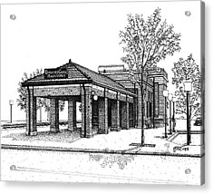 Downers Grove Main Street Train Station Acrylic Print