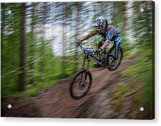 Downhill Race Acrylic Print